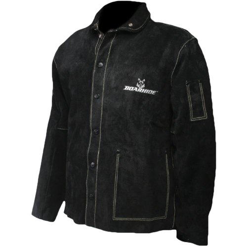 "Caiman Black Boarhide - 30""Jacket, Welding-Apparel Large"