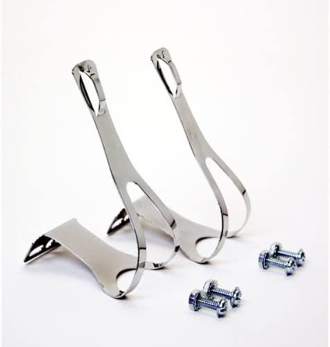 Handson Bicycle Pedal Clips Chrome44; 7 Max 78% OFF Ranking TOP19 x 6 in.