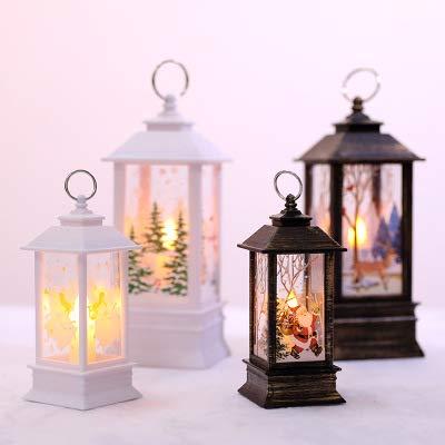 Avmy Snowman Lantern Flame Lamp Party Supplies Christmas Decoration Hanging Prop Led Candles Halloween Light Santa claus elk