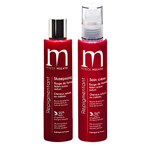 Mulato Kit Duo Rouge De Venise | Shampooing et Soin Repigmentant Rouge De Venise | Made In...