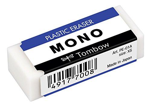 Tombow PE-01A MONO XS - Goma de borrar (PVC, ftalatos y sin látex, 11 g)