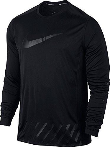 NIKE Dry Miler Seasonal GX Camiseta de Manga Larga, Black/Reflective Silver, S