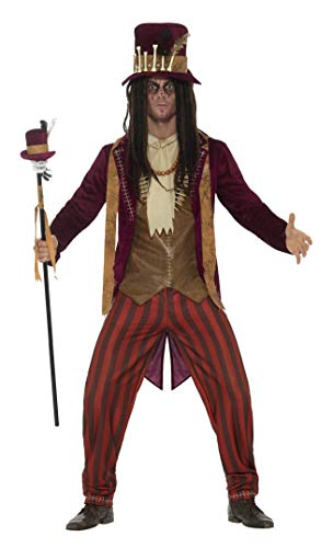 Smiffys Men's Deluxe Voodoo Witch Doctor Costume, Red, Large