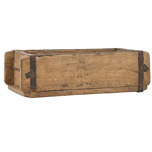 Ib Laursen UNIKA Aufbewahrungsbox aus Holz 31 cm Vintage Allzweckkiste Ordnungshelfer Ordnungsbox Holzkiste Ziegelform Dekokiste nostalgisch Antik Regal klein