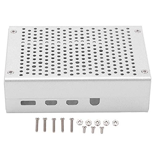 RANNYY Carcasa de refrigeración del radiador con Varios Agujeros, Carcasa de aleación de Aluminio Carcasa de refrigeración del radiador con Varios Agujeros para Raspberry Pi 4B Silver