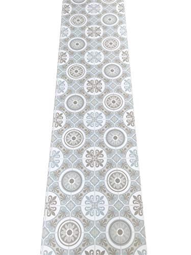 LaVela.Home - Alfombra de cocina por metro, de PVC, 50 cm de ancho, diseño de mármol