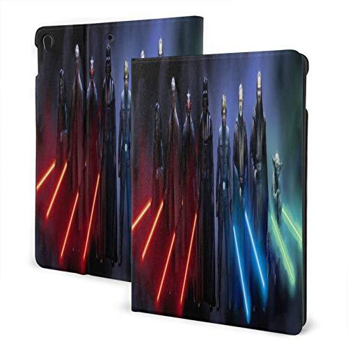 Apples Pad Case For 7th Air3 A2197 A2200 A2198 A2199 A2152 A2123 A2153 A2154 A1701 A1709,Star Wars Jedi Sith Laser Swords Mask Emperor Palpatine Luke Skywalker Darth Vader Yoda Collage Star Wars