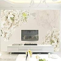 xueshao カスタム壁紙壁画ファッションホームデコレーション美しい手描きの花テレビの背景壁紙-150X120Cm