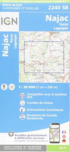 Najac.Varen-Laguépie 1:25 000: 2240 SB (Top 25 & série bleue - Carte...