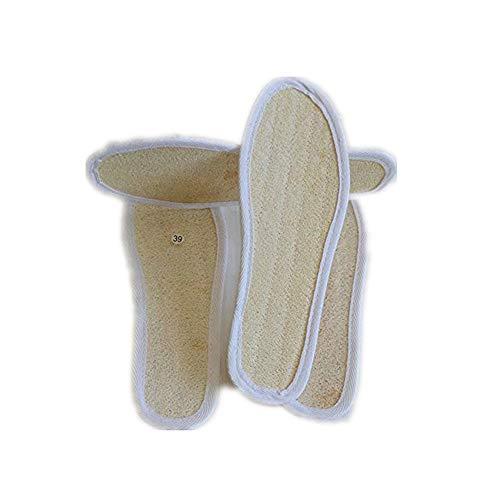 SHUNHUI Natürliche Luffa-Deodorant-Einlegesohle Atmungsaktive schweißabsorbierende Sport-Einlegesohlen erhöhen die matten Sommer-Deodorant-Luffa-Einlegesohlen (2 Paar)