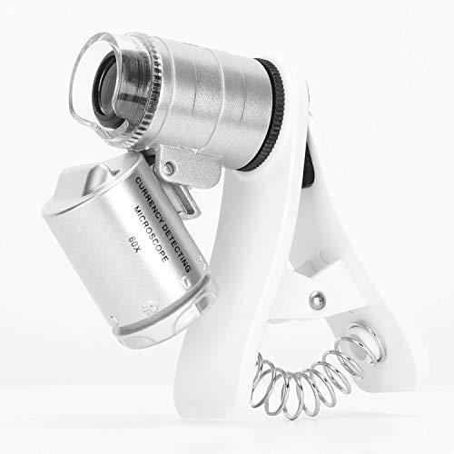 ポケットジュエラーアイルーペ、60Xガラスレンズ拡大鏡ジュエリー、コイン、スタンプ、アンティークなどのポータブル (クリップ付き60X)