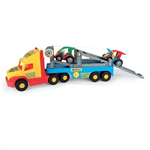 Wader - 2078197 - Super Truck - Transporteur De Voitures avec Boguet