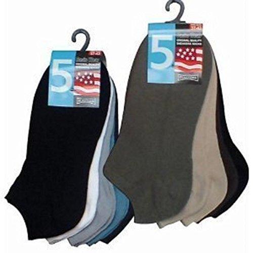 Wowerat Lot de 10 paires de chaussettes basses Multicolore Farbig für Herren 43-47