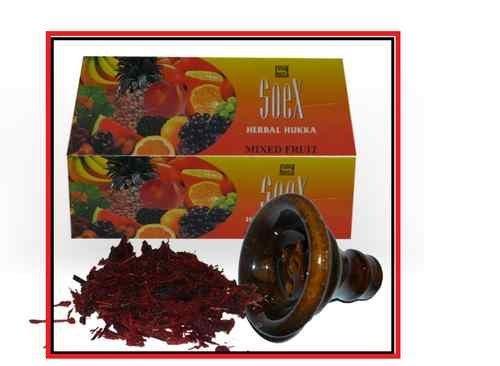50Gramm, Mixed Fruit Soex Wasserpfeife Shisha Molasse Tabak frei