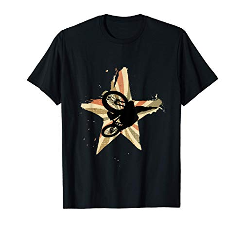 Retro star cyclist does trick with mountain bike T-Shirt