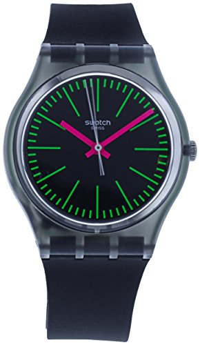 Swatch Fluo Loopy GM189 - Reloj de cuarzo (silicona), color negro