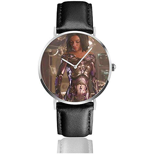 Alita Battle Angel Classic Lässige Quarzuhr Edelstahl Lederband Uhren