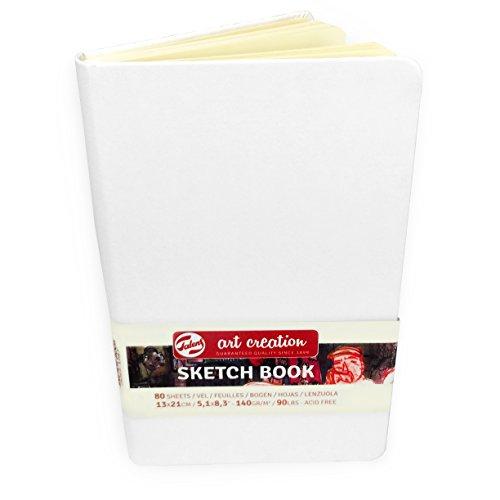 Royal Talens – Art Creation Hardback Sketchbook – 80 Sheets – 140gsm – 13 x 21cm – White Cover