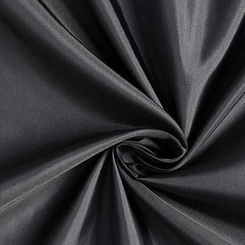 Fabulous Fabrics Futterstoff Cupro Acetat Mix Edler Glanz – dunkelgrau — Meterware ab 0,5m — zum Nähen von Futter