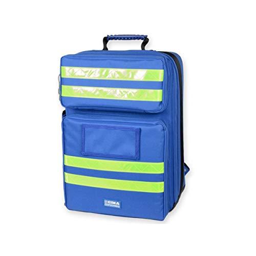 """GIMA ref 27168 Mochila""""Silos 2"""" para emergencias sanitarias, poliéster, 38 x 24 x h 50 cm, azul, maleta de primeros auxilios, transportable, con compartimientos internos y externos"""