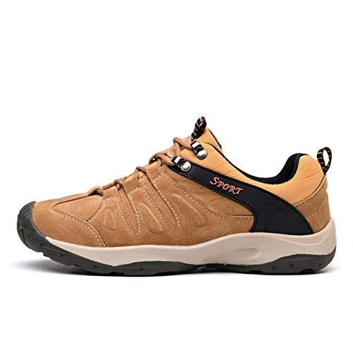 XJWDNX Zapatos de hombre al aire libre de montaña impermeables para hombre senderismo al aire libre zapatos de cuero para hombre caminando zapatillas de senderismo, Zong SE, 6,5