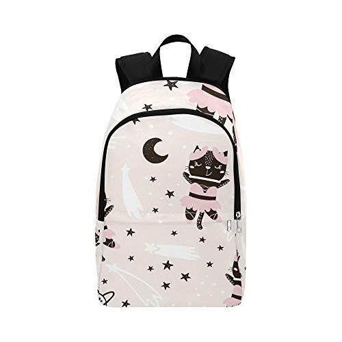Kindisch niedliche Katze Ballerina lässig Daypack Reisetasche College School Rucksack für Herren und Frauen