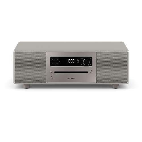 sonoro Lounge Kompaktanlage mit Radio, CD-Player und Bluetooth (UKW/FM, DAB Plus, AUX, USB, MP3, Naturklänge, Meditationsinhalte) Sandstone