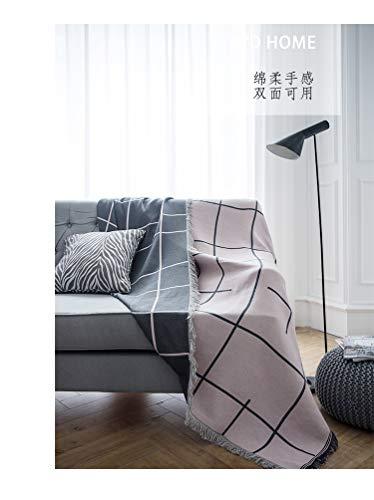 longchang Plaid couverture complète Tissu Chiffon canapé Noir Tissu Anti-poussière Combinaison canapé canapé housse housse de Serviette canapé nordique, 180 * 300