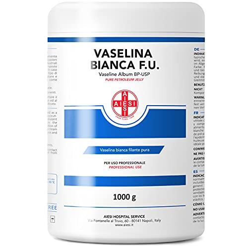 AIESI® Vaselina Blanca Pura BP-USP Petroleum Jelly frasco de 1