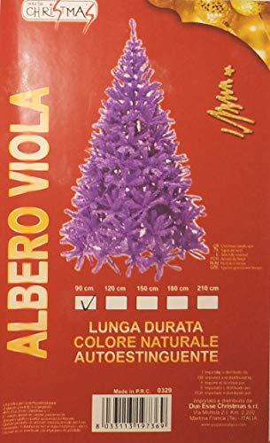 DUE ESSE SRL Albero di Natale 90 cm (Colore Viola)