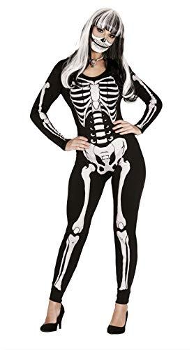 FIESTAS GUIRCA Disfraz Maillot Esqueleto Mujer en Spandex Talla m