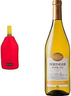 【カリフォルニア州ナパ最古のワイナリー】ベリンジャー カリフォルニア・シャルドネ [ 白ワイン 辛口 アメリカ合衆国 750ml ]+ルクルーゼ アイスクーラースリーブ WA126 ワインクーラー チェリーレッド