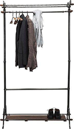 Kare Design Garderobenständer Cosmopolitan (13-tlg.), Garderobe Metall, Garderobenständer industrial, Schwarz, (H/B/T) 170x100x56cm