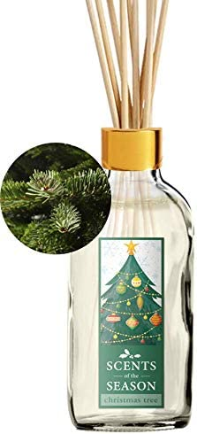 Fraser Fir Christmas Tree Scented Reed Diffuser Set | Home Fragrance | Reed Diffuser Sticks and 4 oz Bottle | Hand Made in The USA…