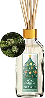 Scents of the Season Fraser Fir Christmas Tree Scented Reed Diffuser Set | Home Fragrance | Reed Diffuser Sticks and 4 oz Bottle | Hand Made in The USA