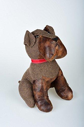 Butée de porte en cuir synthétique et tissu Bulldog