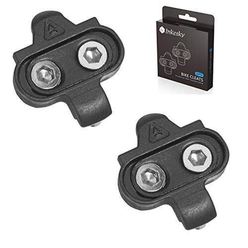 Inkesky Bike Cleats - Compatible with Shimano SPD - for Spinning & Indoor & Outdoor Cycling (1-Pack)