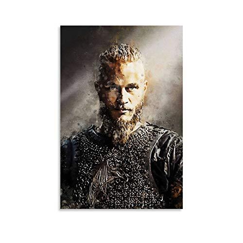 GUCII Ragnar Lothbrok Vikings Póster pintura decorativa lienzo pared sala de estar póster dormitorio pintura 20 x 30 cm