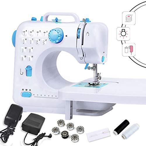 Máquinas De Coser, Máquina De Coser Portátil Máquina De Reparación Eléctrica Manual De 2 Velocidades De Doble Hilo De Color Azul Blanco Ajustable -12.31