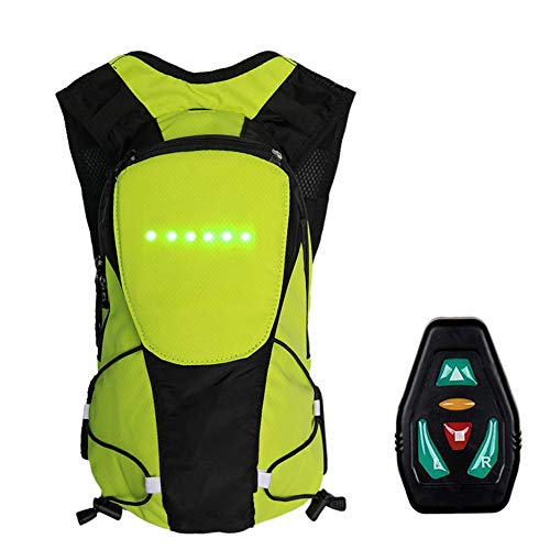 Redcolourful LED Wireless Remote Control Warnlicht Blinker Licht Rucksack Gelb