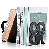 Book Ends Decorative Metal Bookends Supports for Book-Rack Desk Kitchen Book Shelf Holder for Shelves Distinctive Appearance Design Book Ends Metal Supports