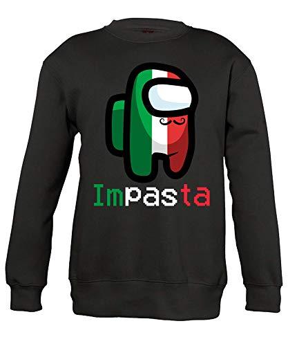 Quattro Formatee Among Us Impasta Impostor Crewmate Harajuku Kinder Pullover Sweatshirt | Schwarz | 152
