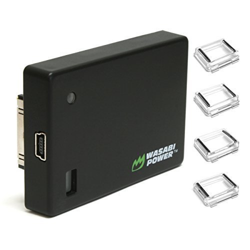 Wasabi Power Extended Battery compatible with GoPro HERO4, HERO3+, HERO3 (with Backdoors)