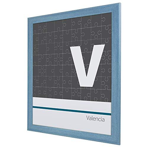 Puzzlerahmen Bilderrahmen Valencia 50X70cm Hellblau für ca. 500-1000 Teile