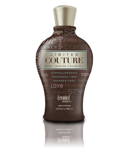 Devoted Creations Limited Couture - Activador de bronceado hidratante profesional, para centros estéticos, solárium, bote de 360 ml, DC Lin, apto para pieles sensibles, hipoalergénico, sin perfume