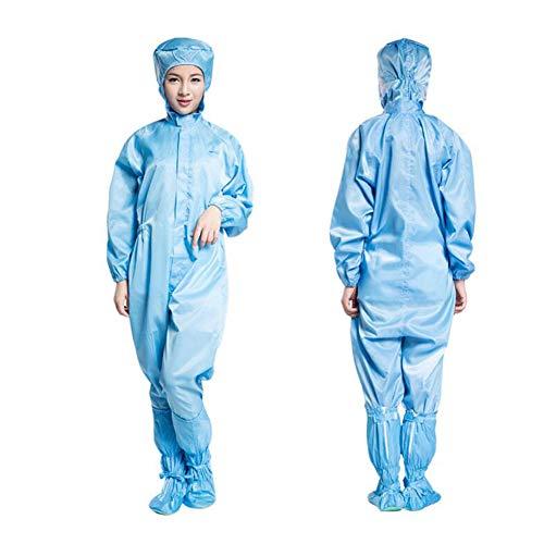 QZAA-Tuta Protettiva Tuta Antinfortunistica Antimicrobicasicurezza con Copriscarpe Protettivi Gli Indumenti Isolanti Tute Antipolvere con Antistatiche Dispositivi di Protezione Individuale,XL