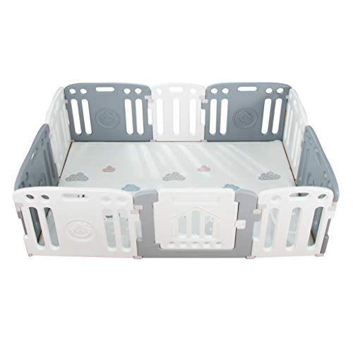 Find Discount Portable Play Yard with Gate for Babies, Infant, Toddlers | Large Indoor/Outdoor Play Pen with Panels | Safety Locking Playgate Fence for Kids