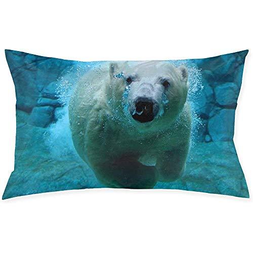 jonycm Pillowcase Oso Polar Dormitorio Hogar Cremallera 60X40Cm Funda De Cojín Cojines De Sofá Funda De Cojín Funda De Almohada Funda De Almohada Almohada