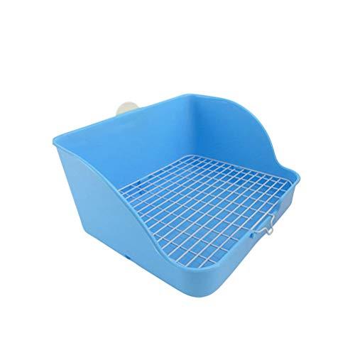POPETPOP Haustier Kaninchen Toilette Pet WC Töpfchen für Hundekaninchen und Meerschweinchen (Blau)