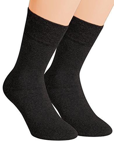 Vitasox 32033 Herren Wellness Socken Baumwolle Frotteesohle Baumwollsocken Arbeitssocken ohne Gummi 6er Pack Schwarz 43/46